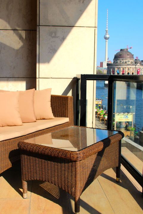 Balkon Juniorsuite Riverside Hotel Berlin Mitte Holidaycheck
