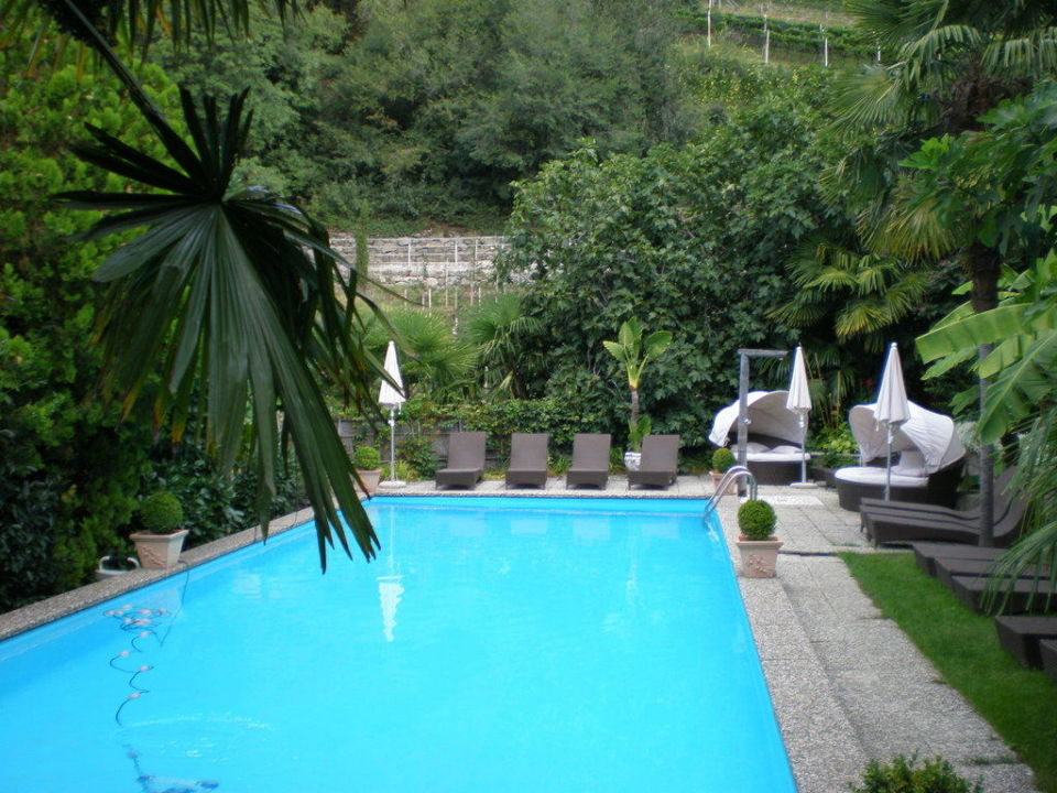 Pool im Garten Residence Fischerhof