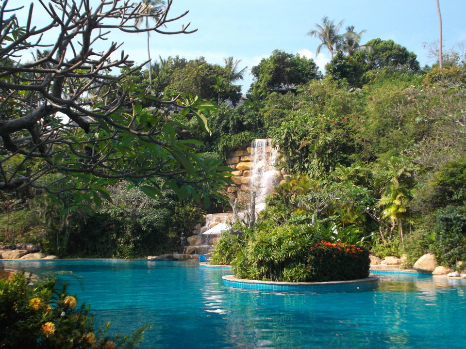 Wasserfall Am Pool Santhiya Koh Phangan Resort U0026 Spa