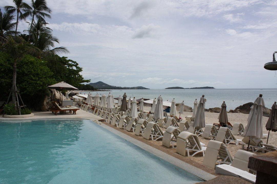 Aussicht vom Pool aus The Imperial Samui (Vorgänger-Hotel – existiert nicht mehr)
