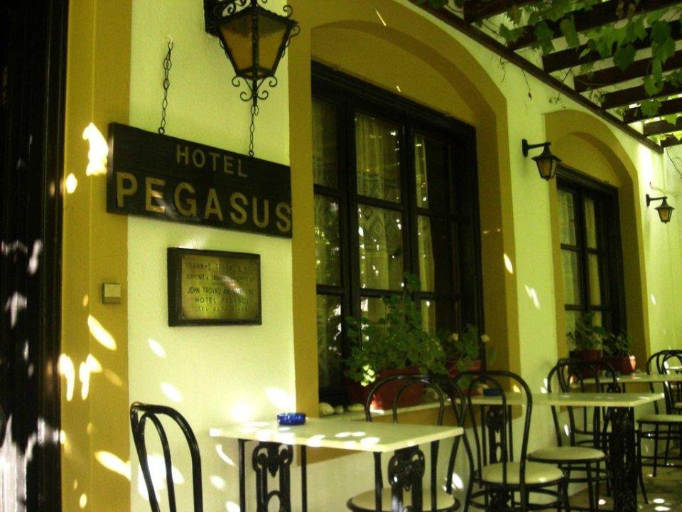 Hoteleingang Hotel Pegasus