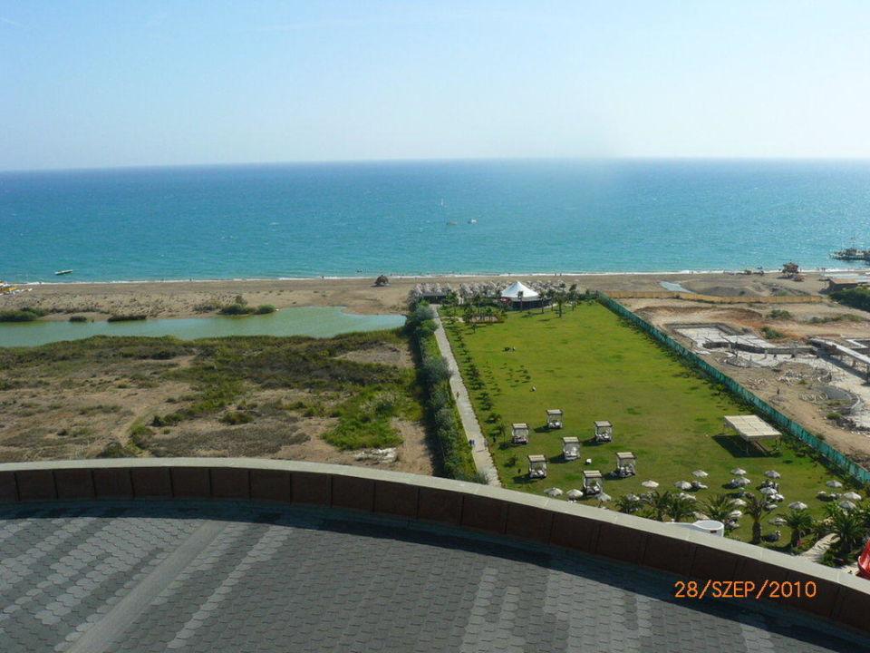 View and beach Melas Lara Hotel