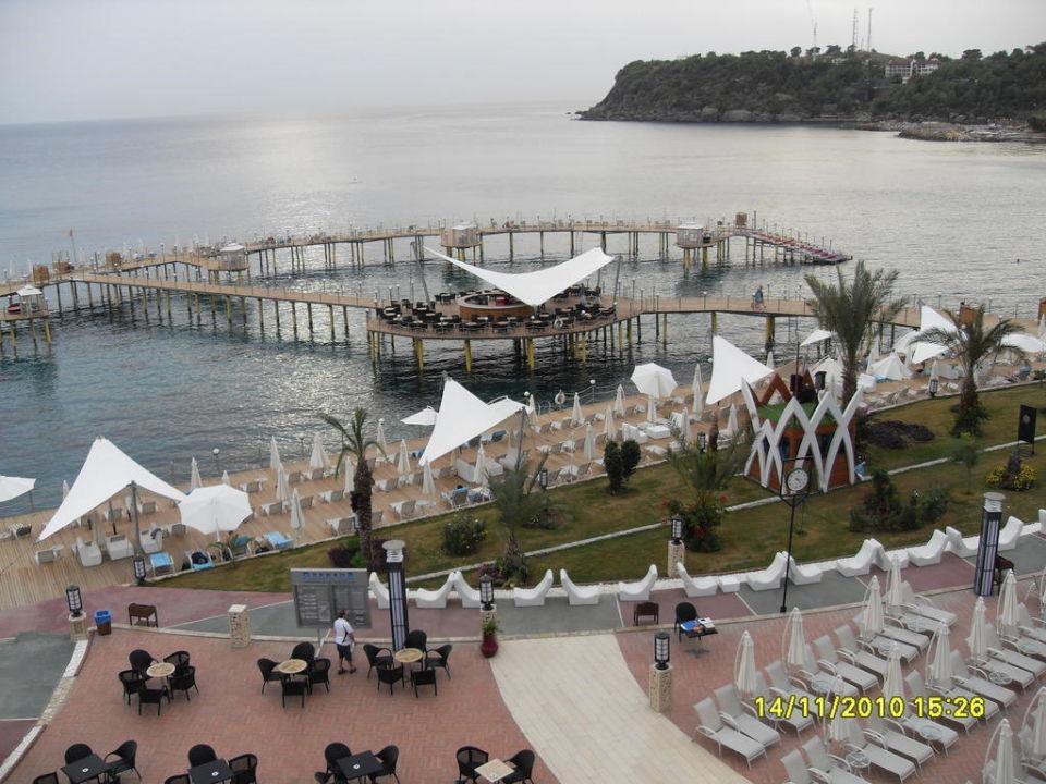 Blick von der Etage Lobby Granada Luxury Okurcalar