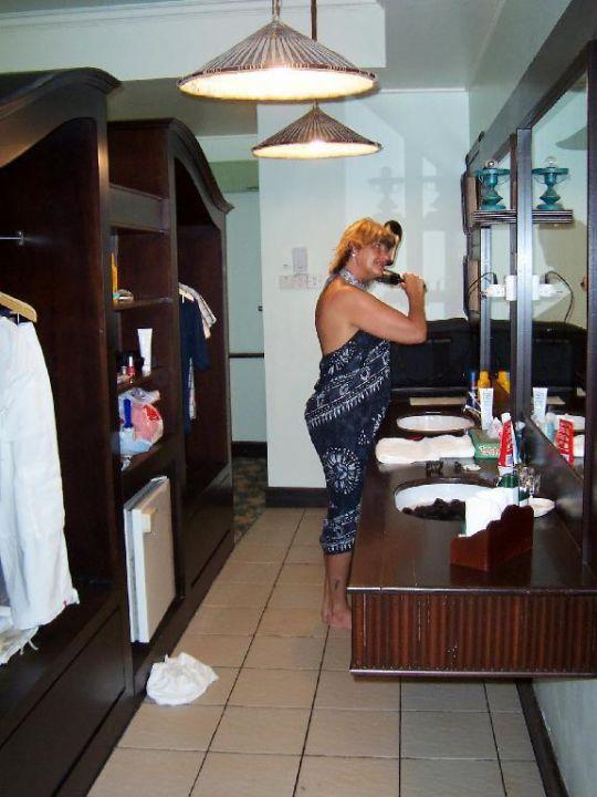 Chalet Innen (Waschgelegenheit) Hotel Damai Puri Resort & Spa