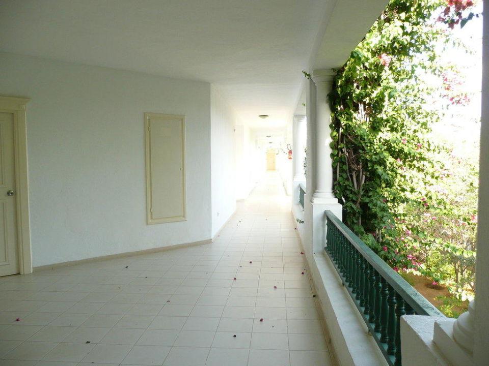 Und noch ein Gang zu meinem Zimmer Hotel Shalimar