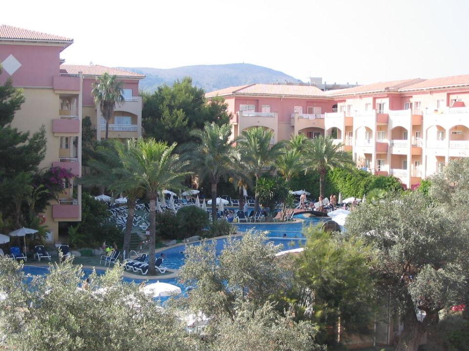 Gartenanlage mit Pool Aparthotel Green Garden