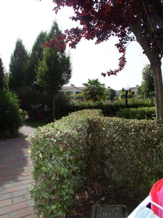 Blick aus unserem Garten Villaggio & Aparthotel Marco Polo