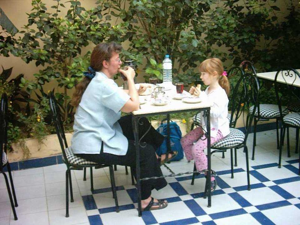 Frühstück im Little Garden, Luxor Hotel Little Garden