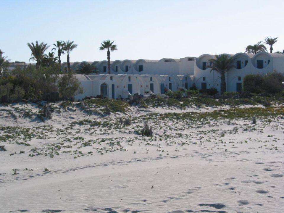 Hotelanlage vom Strand gesehen Hotel Meninx