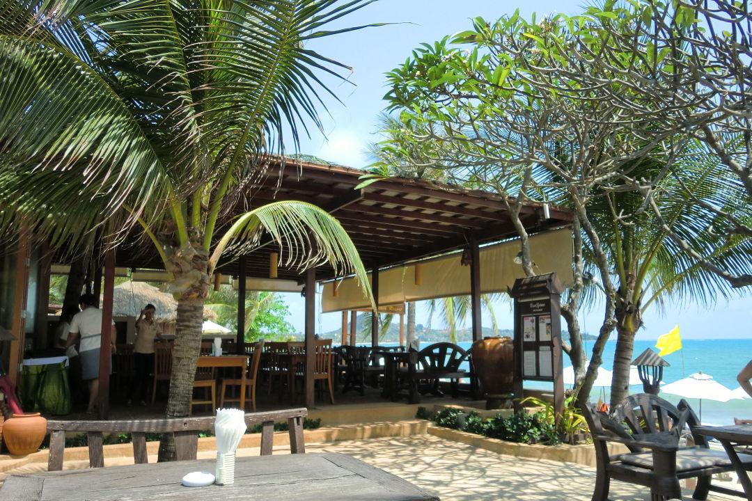 Sitzt man beim fr 252 hst 252 ck quot zu thai house beach resort in lamai beach