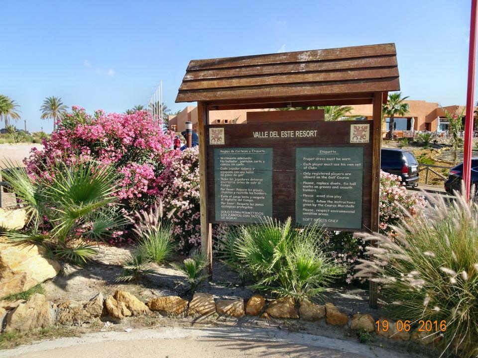 Eingang zum Golfplatz Hotel Valle del Este Golf Spa