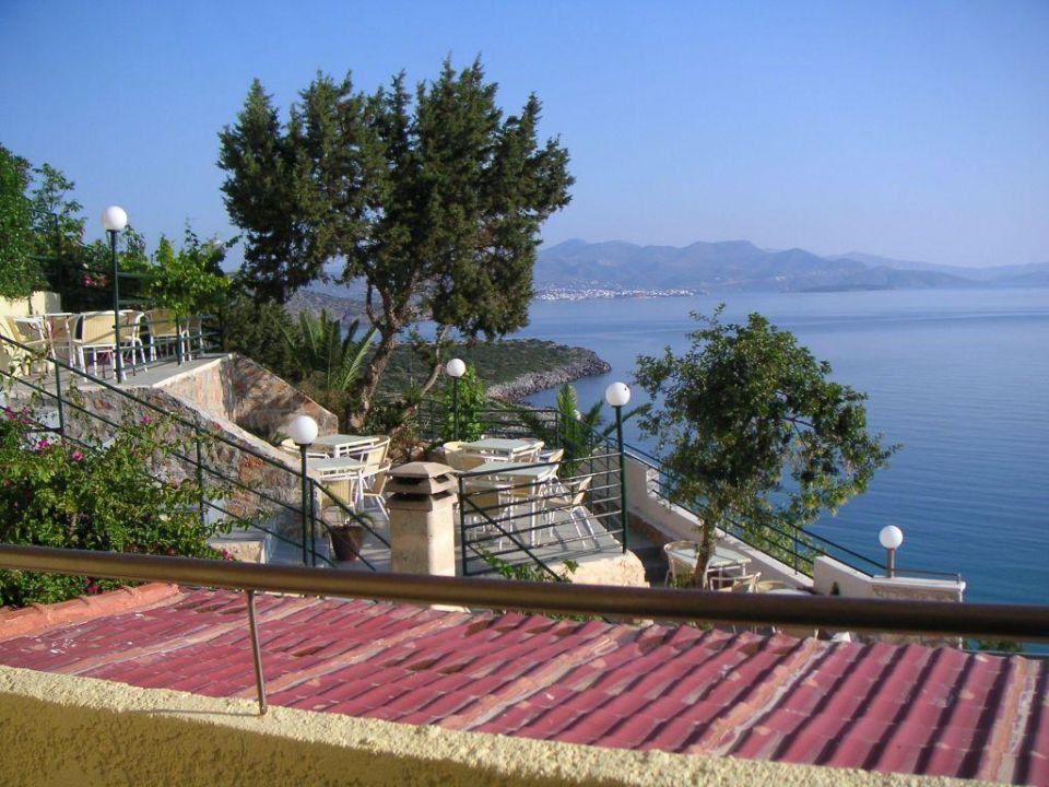 Blick vom Zimmer auf die Bucht Hotel Mistral Mare