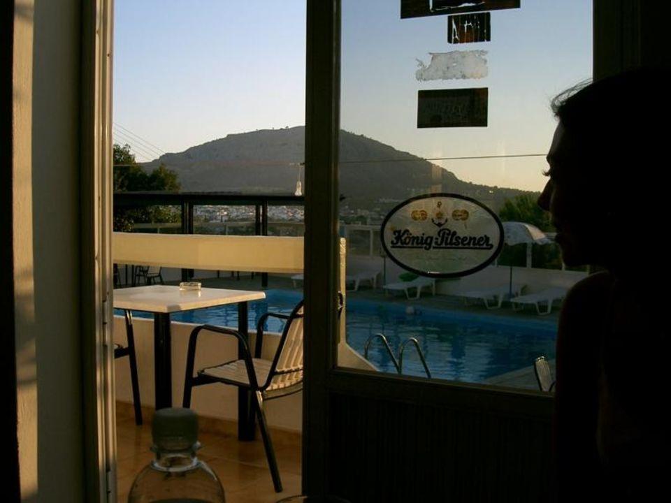 Hotel Anagros - Poolblick Hotel Anagros