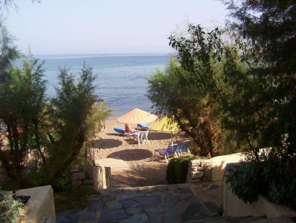 Weg zum Strand Hotel Creta Star