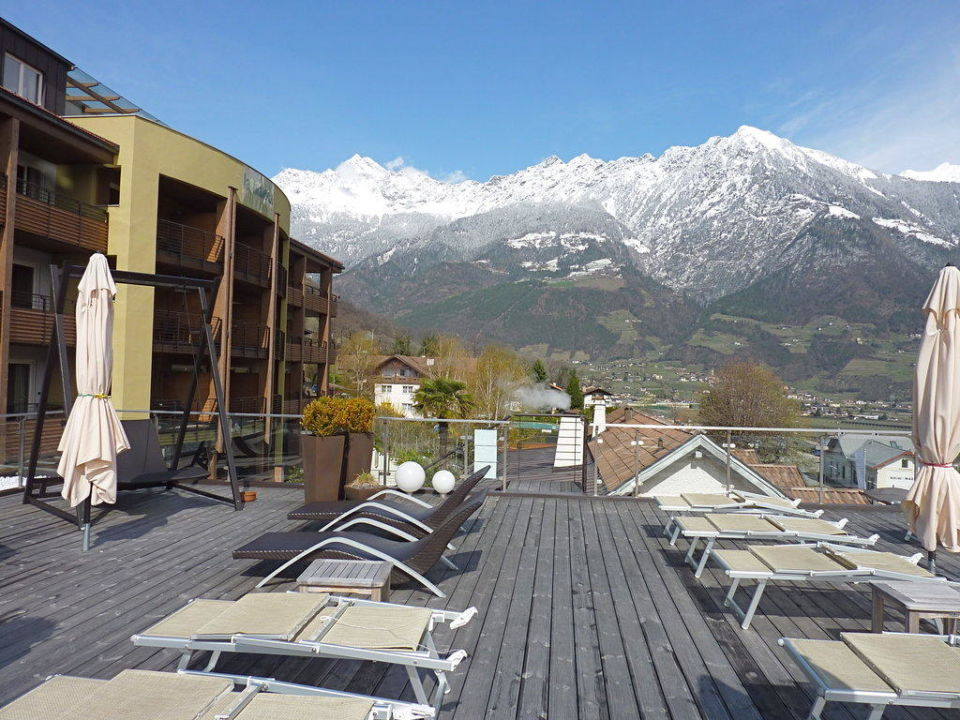 Blick auf das Hotel La Maiena Meran Resort