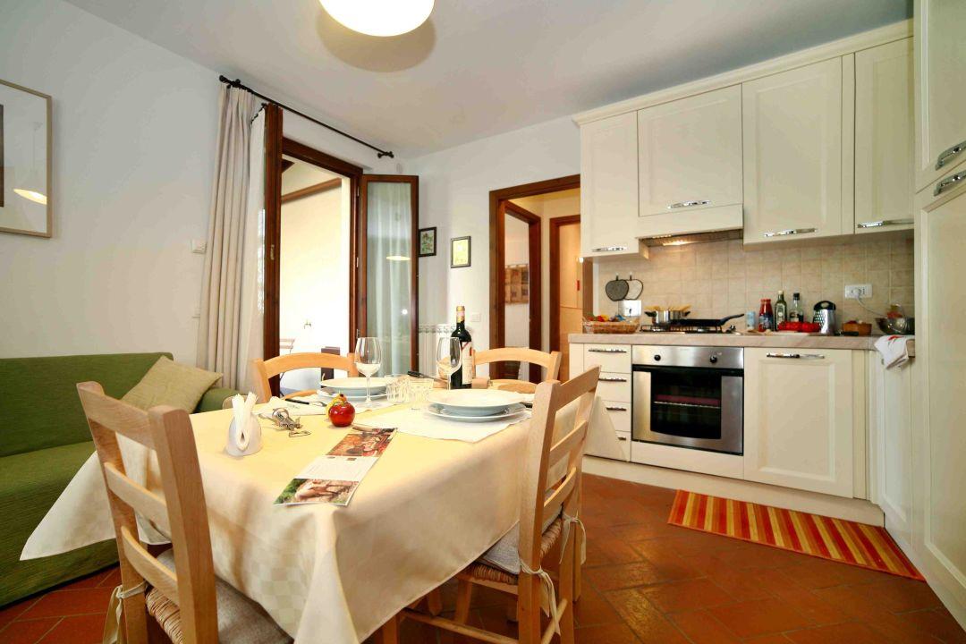 Poliziano apartment - kitchen La Compagnia del Chianti