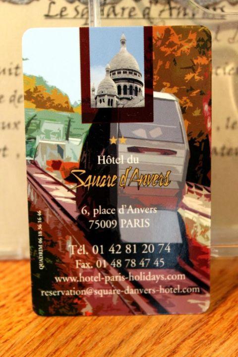Carte De Visite Hotel Du Square DAnvers