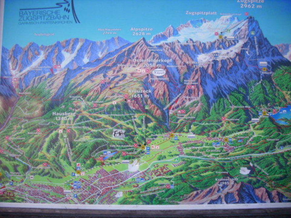 Übersicht der Ausflugsmöglichkeiten in den Bergen Grand Hotel Sonnenbichl