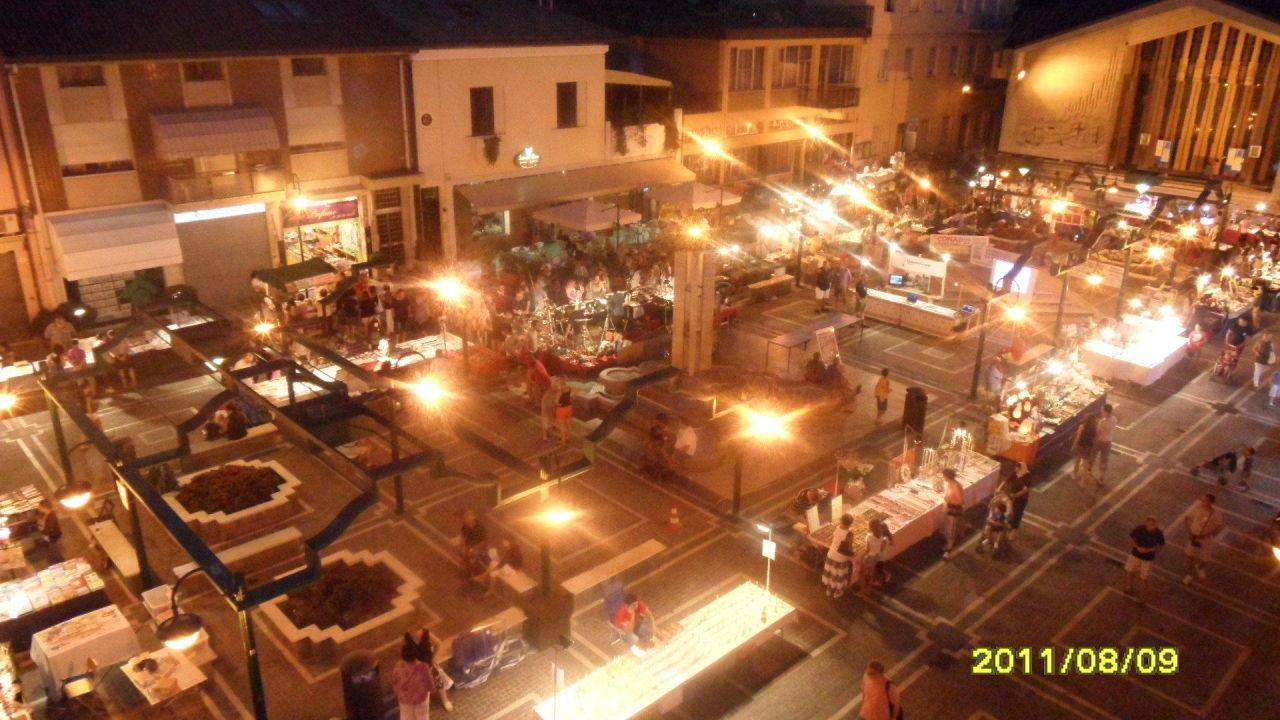 Wieczorne życie przy hotelu Hotel Stella D' Italia