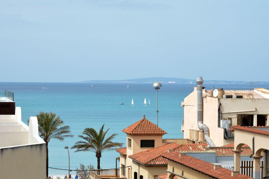 Ausblick Hostal Playa De Palma