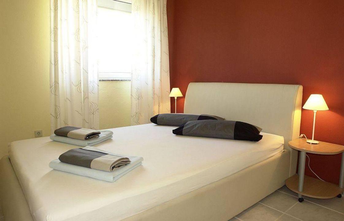 Schlafzimmer der Ferienwohnungen Strandhaus Vivien