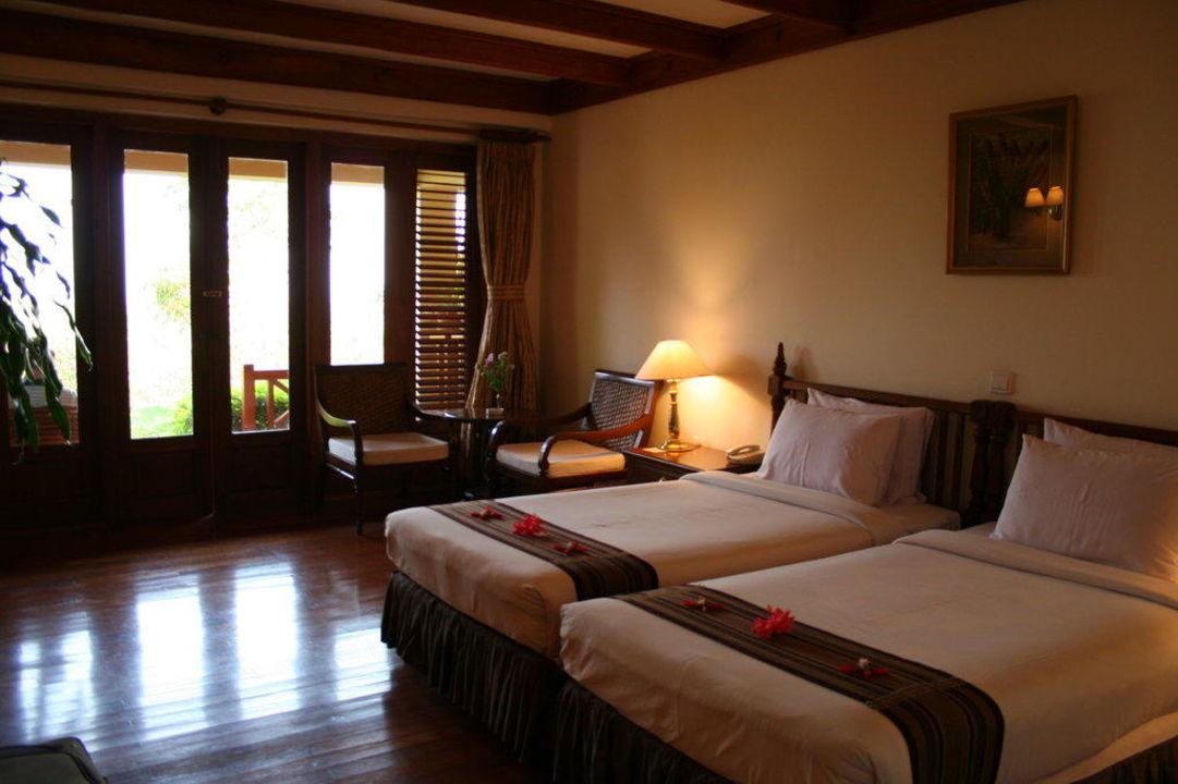 Geräumige und gepflegte Zimmer Hotel Inle Lake View Resort