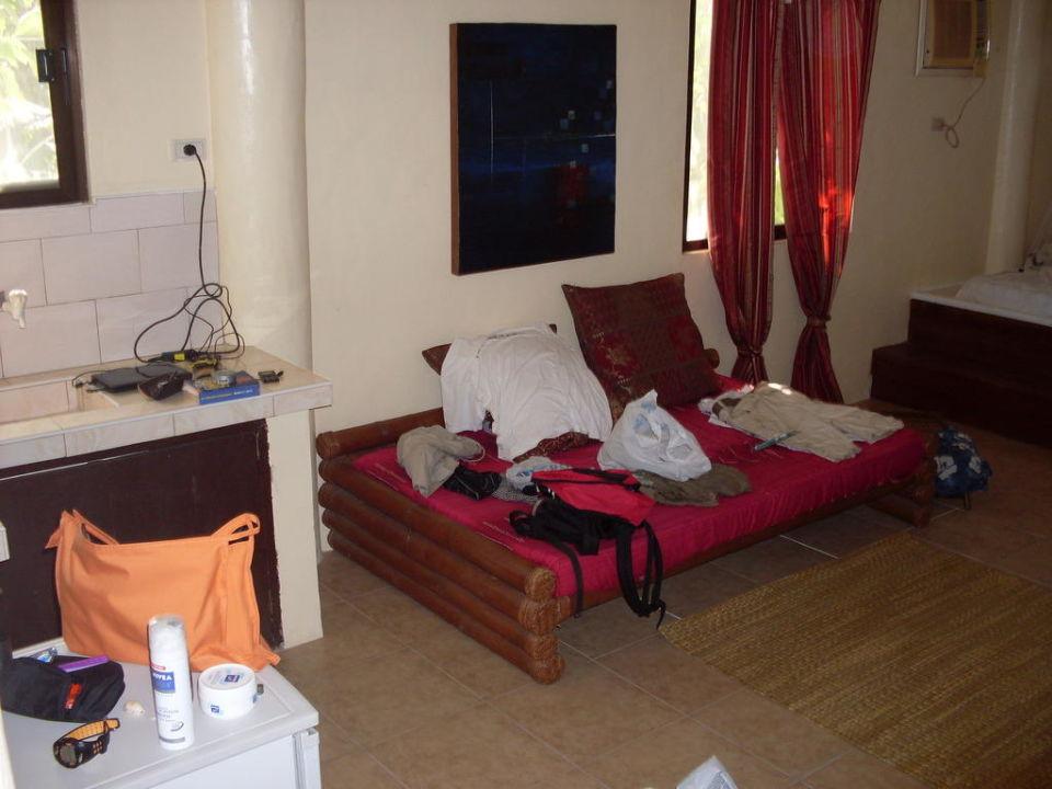 Die Kochnische und die Sitzecke Hotel Boracay Kite Resort Windpia