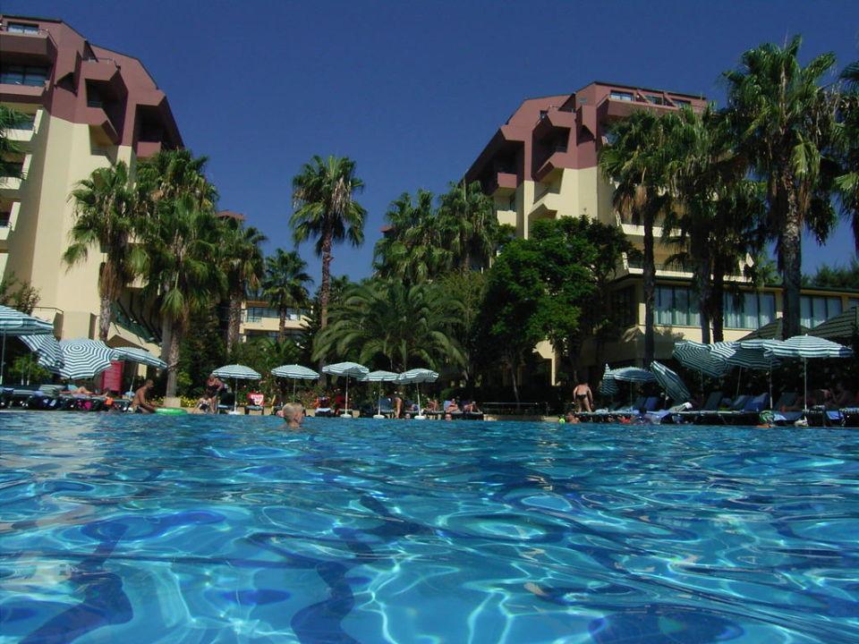 Hotel vom Pool aus Hotel Meryan