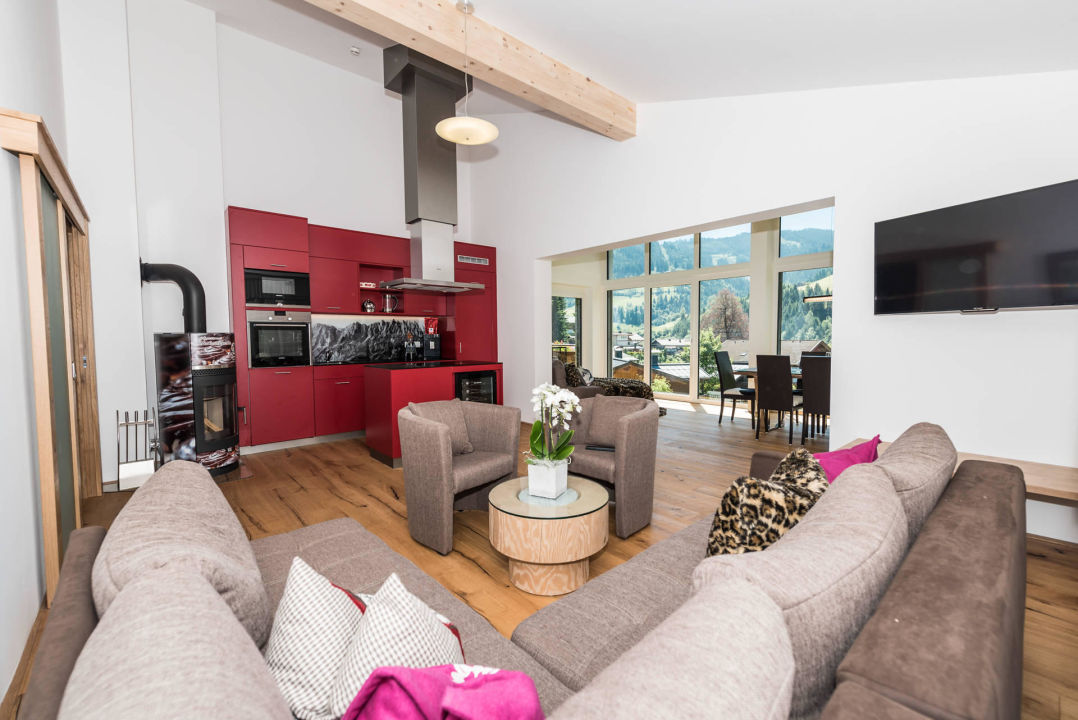 Wohnbereich 150qm Apartment Luxus Ferienwohnungen Bauer-Müllerhaus