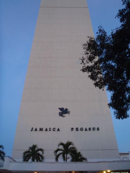 Aussicht auf dasl Hote Jamaica Pegasus Hotel