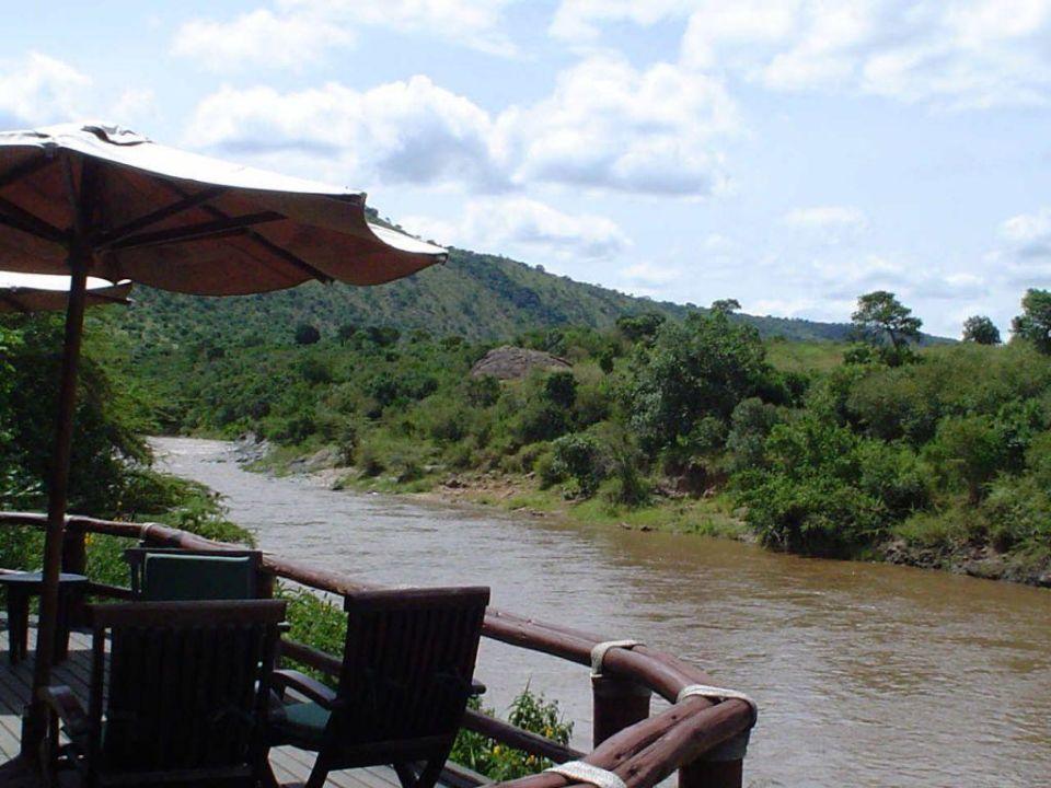 Blickvon der Terrasse Hotel Olonana Safari Camp