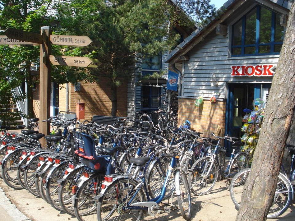 Brötchenkiosk mit Fahrradverleih Hotel Aquamaris