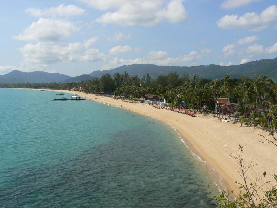 Blick vom Ende des Maenam Beach Pinnacle Samui Resort