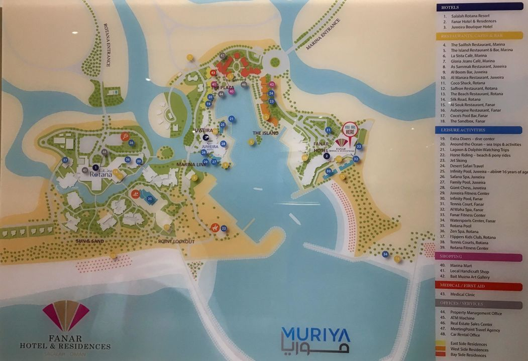 Lageplan Der Gesamten Anlage Fanar Hotel Residences Salalah Beach