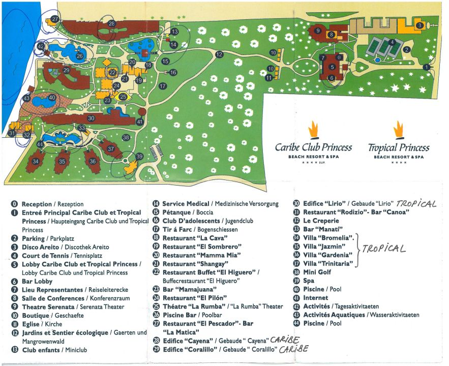 Lalimar Beach Resort Map