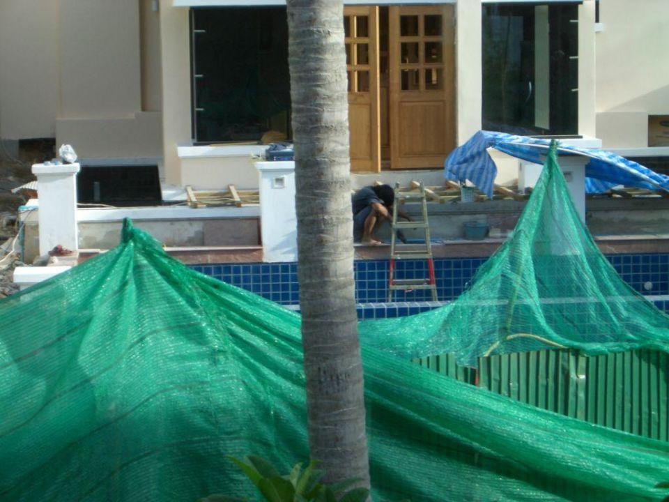 Blick hinten aus unserem Zimmer... Q Signature Samui Beach Resort