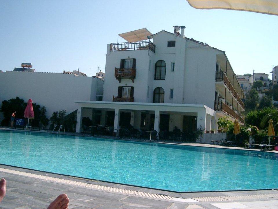 Blick auf den Pool und die Poolbar Hotel Venus