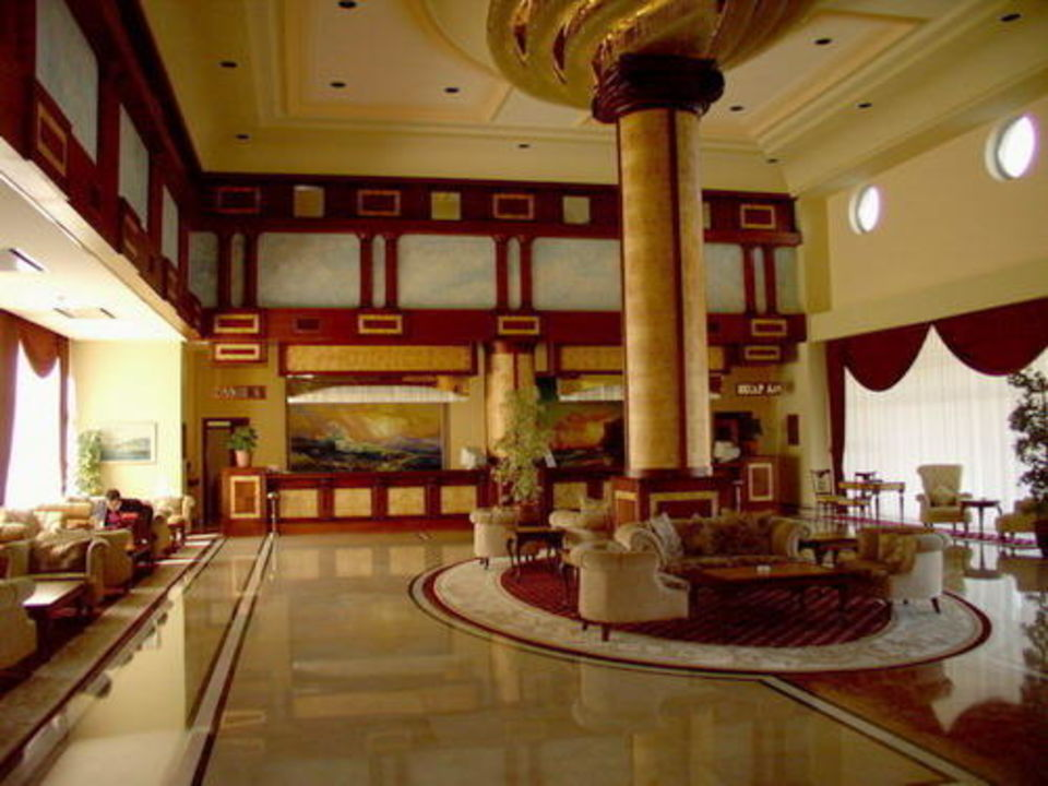 Rezeption des Hotels Melas Resort in Side-Kumköy Hotel Melas Resort