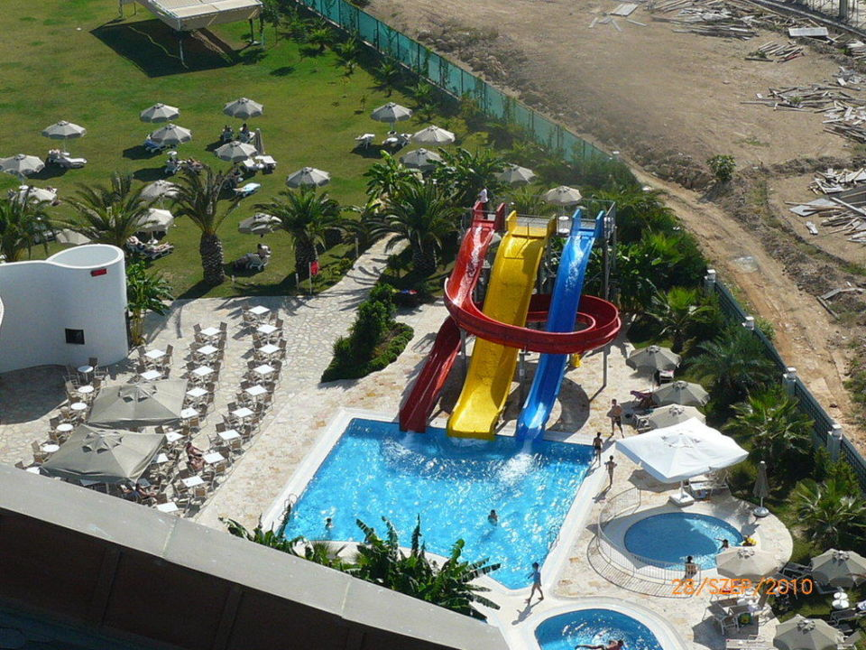 Pool and slides Melas Lara Hotel