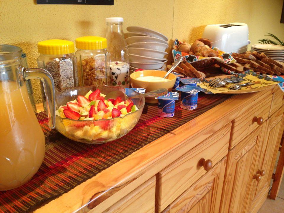 Unser leckeres Frühstück! Zur Alten Mine Guest Farm B&B