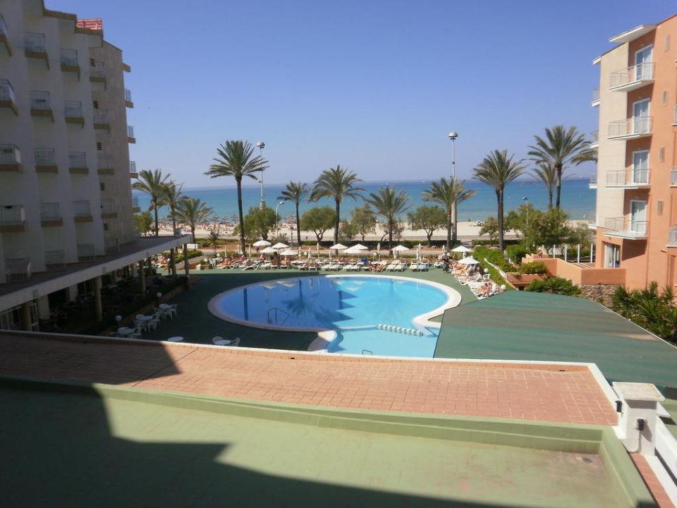 Ausblick vom Balkon Hotel HM Tropical