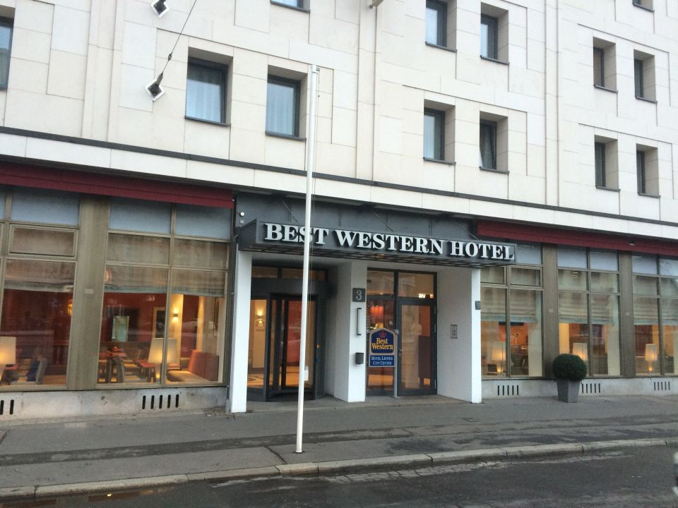 Ansicht Von Strasse Best Western Hotel Leipzig City Center Leipzig
