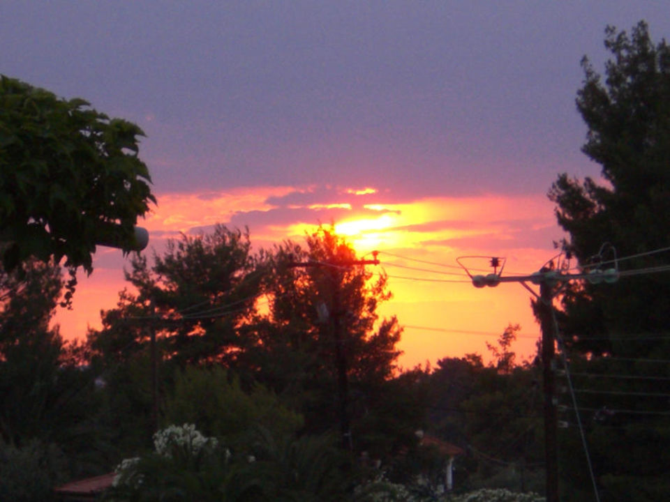 Sonnenuntergang von der Restaurantterrasse Hotel Flegra Palace
