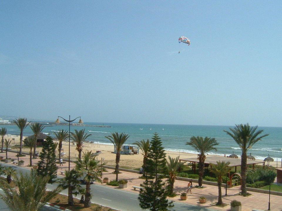 Blick auf den Strand El Mouradi Hammamet