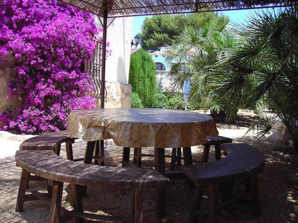 Sitzecke am Barbecue El Refugio Villa Rosa