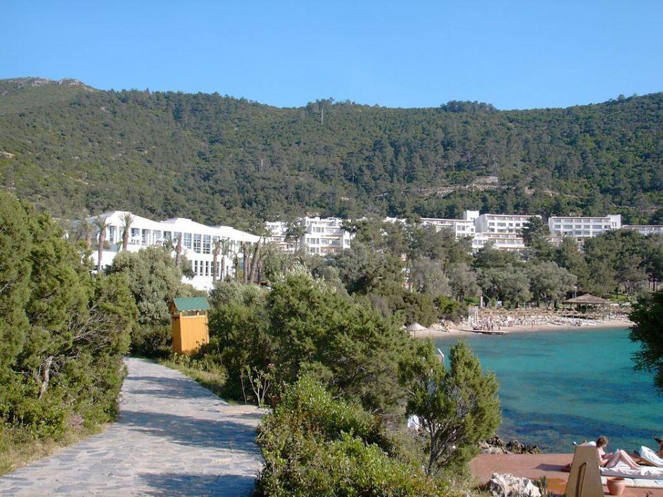 Blick auf die Hotelanlage Rixos Premium Bodrum