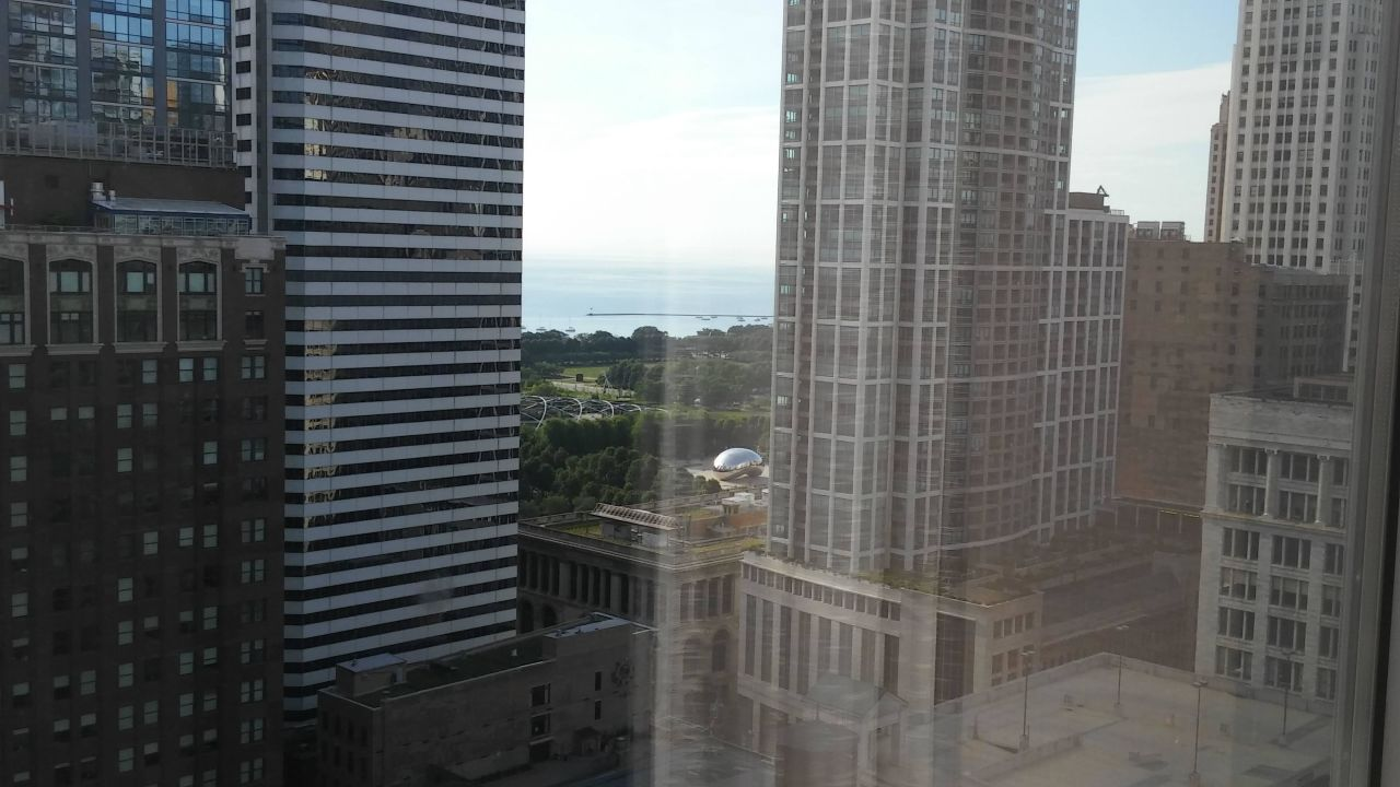 City view from my window!!! theWit Chicago - a DoubleTree by Hilton Hotel