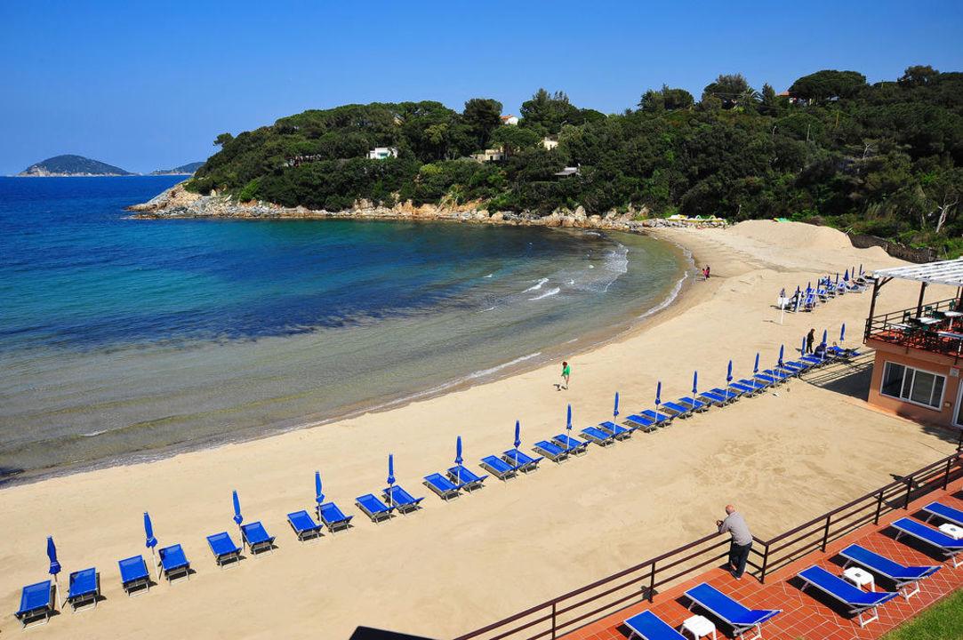 The private beach Hotel Desiree