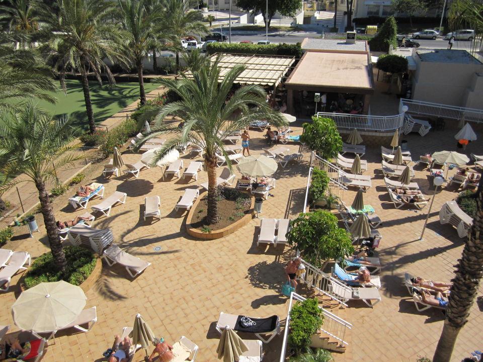 Poolbar im Hintergrund Hotel Riu Costa Lago (Vorgänger-Hotel – existiert nicht mehr)