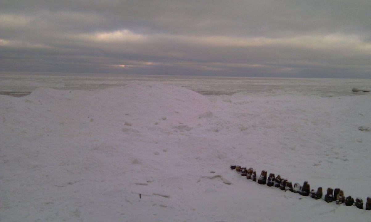 Zamarźnięty Bałtyk wygląda niesamowicie Hotel Arka Medical Spa